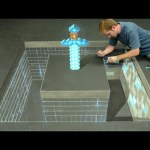 Minecraft Diamond Sword 3D Chalk Art – AWE me Artist Series