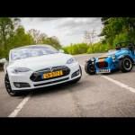 Tesla Model S P85D drag race – the ultimate Q car?