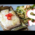 Banana Leaf Baked Cod with Courgetti Recipe – Performance Food