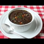 Black Lentil Soup Recipe – How to Make Lentil & Bacon Soup
