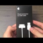 Apple Dock Connector to USB Cable Unboxing
