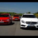 Mercedes A45 AMG vs Volkswagen Golf GTI vs BMW M135i – hot hatch mega test – autocar.co.uk