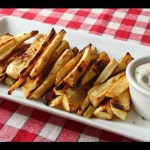 """Oven """"Grilled"""" Parsnips Recipe — Roasted Parsnips Appetizer and Side Dish"""