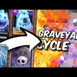 2.9 FAST GRAVEYARD CYCLE DECK ft. Johnny :: Clash Royale Pro Tips