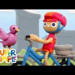 10 Little Bicycles | Kids Songs | Super Simple Songs