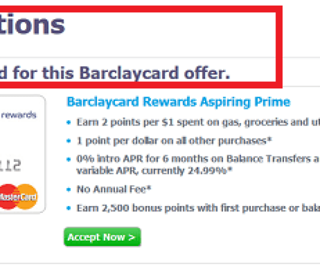 Barclaycard Pre Approval Success