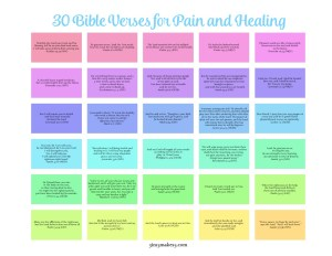 30 verses for pain and healing