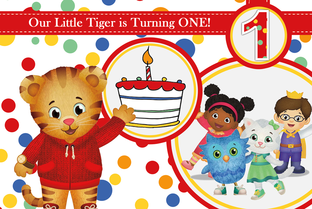 Daniel Tiger 1st Birthday Party 3in1 Events