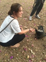 Sierra feeding a cute lil monkey