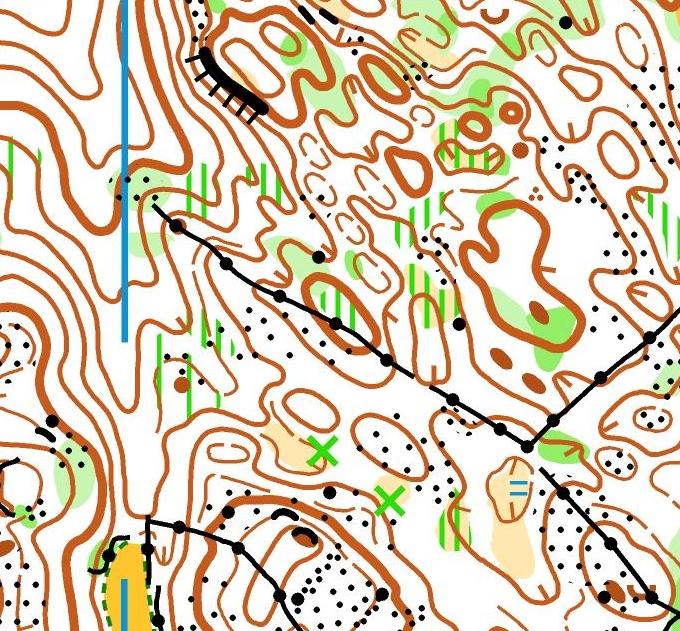 Extrait de la carte de l'étape 3 des trois jours du Haut-Jura 2020