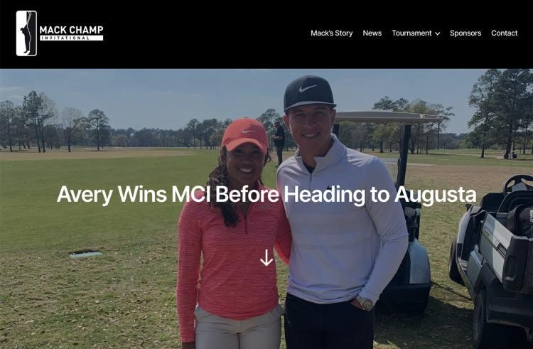 Mack Champ Invitational website homepage screenshot