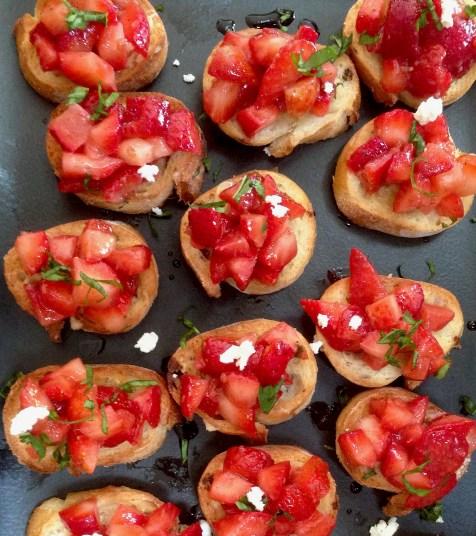 Strawberry bruscetta