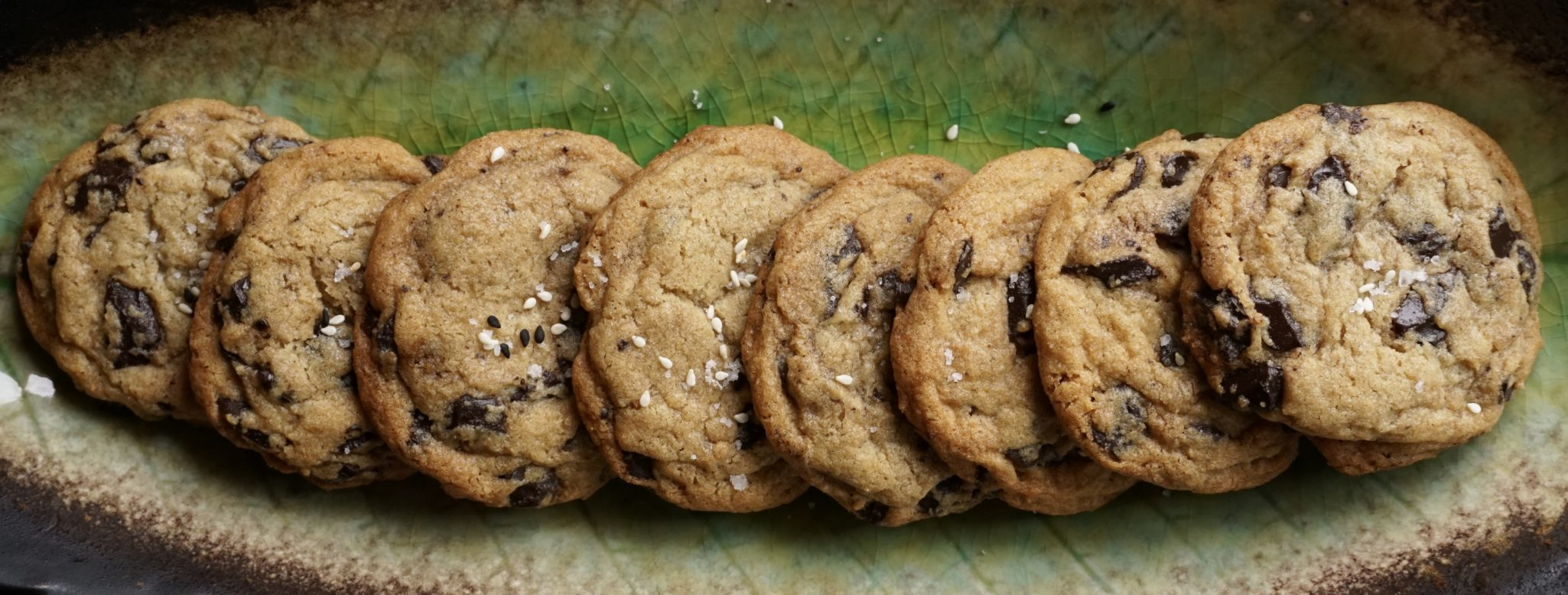 Salted Chocolate Chip Tahini Cookies Revisited