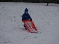 Ben pulling his sledge