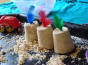 Decorating sandcastles