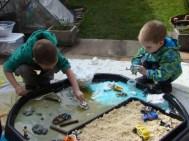 Boys enjoying gloop again