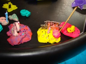 Playdough birthday cakes