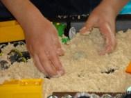 Burying water beads