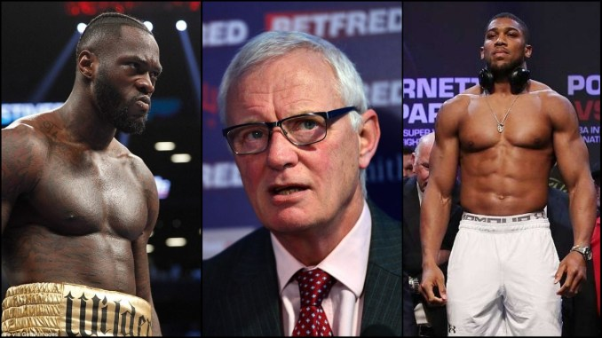Deontay Wilder, Barry Hearn, Anthony Joshua