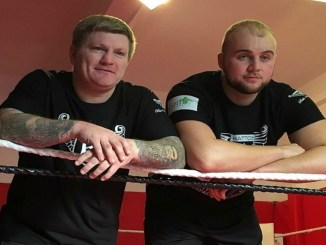 Ricky Hatton (left), Nathan Gorman