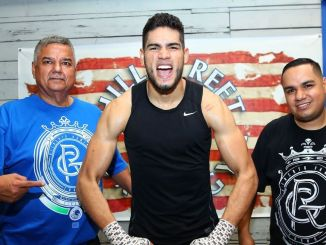 (Left to right) Jesus Zapari, Gilberto Ramirez, Hector Zapari