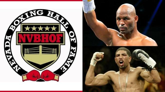 Nevada Boxing Hall of Fame Logo, Bernard Hopkins and Winky Wright