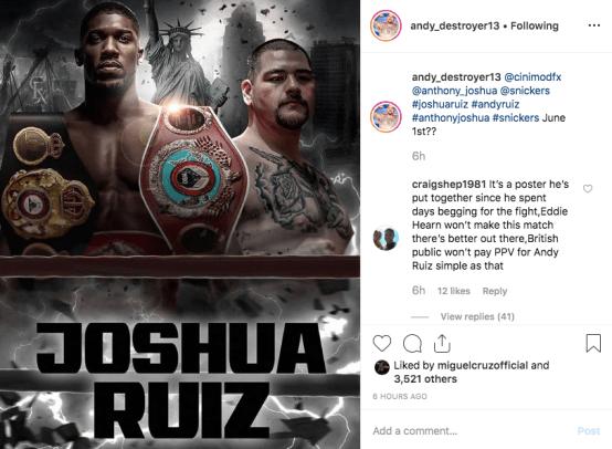 Andy Ruiz Joshua Post 2