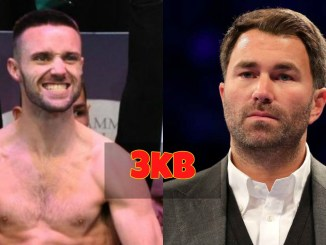 Eddie Hearn and Josh Taylor
