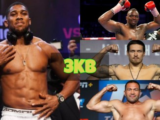 Anthony Joshua, Dillian Whyte, Oleksandr Usyk and Kubrat Pulev