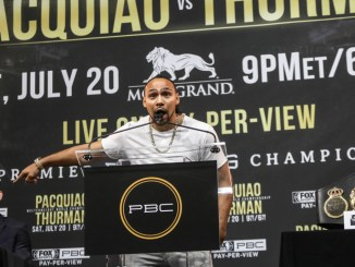Keith Thurman at Presser for Manny Pacquiao Fight