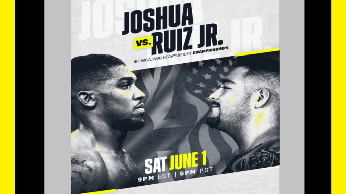 Anthony Joshua vs Andy Ruiz Jr Banner