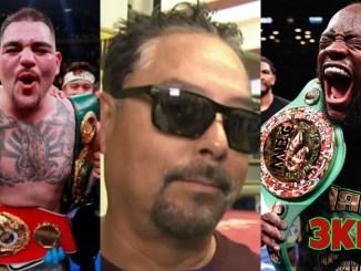 Andy Ruiz, Andres Ruiz and Deontay Wilder