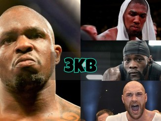 Dillian Whyte, Anthony Joshua, Deontay Wilder and Tyson Fury