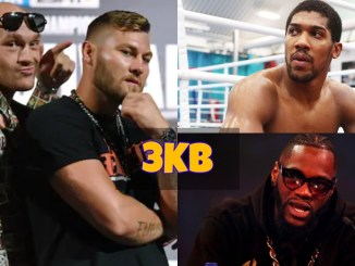 Tyson Fury and Tom Schwarz, Anthony Joshua and Deontay Wilder