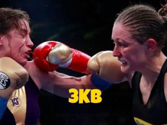 Katie Taylor and Delfine Persoon Exchange Shots