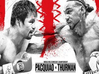 Manny Pacquiao vs Keith Thurman banner