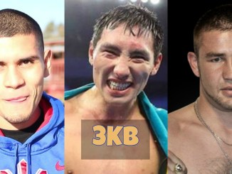 Arnold Barboza Jr, Janibek Alimkhanuly and Chris van Heerden.