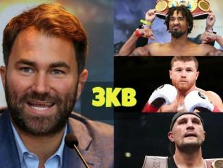Eddie Hearn, Demetrius Andrade, Canelo Alvarez and Sergey Kovalev