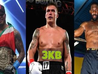 Tyrone Spong, Oleksandr Usyk and Bryant Jennings