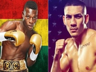 Richard Commey, Teofimo Lopez (right)