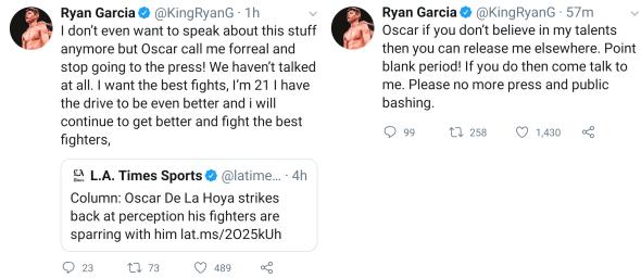 Ryan Garcia via Twitter