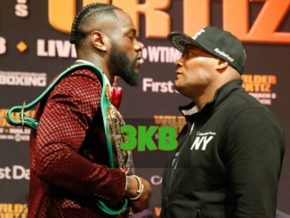 Deontay Wilder and Luis Oritz Face-Off
