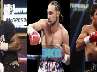 Yordenis Ugas, Keith Thurman and Manny Pacquiao