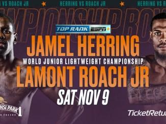 Jamel Herring vs Lamont Roach Jr Banner