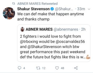 Stevenson and Mares via Twitter