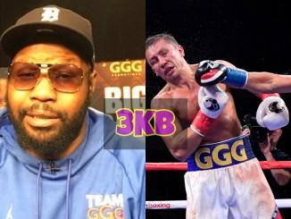 Jonathan Banks and Sergiy Derevyanchenko lands straight right on Gennady Golovkin