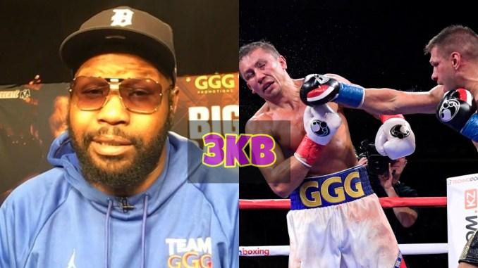 Jonathan Banks and Sergiy Derevyanchenko lands straight right on Gennady Golovkin