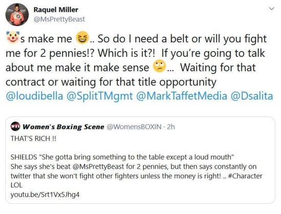 Raquel Miller Responds on Twitter