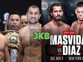 Canelo Alvarez vs Sergey Kovalev and Jorge Masvidal vs Nate Diaz banner