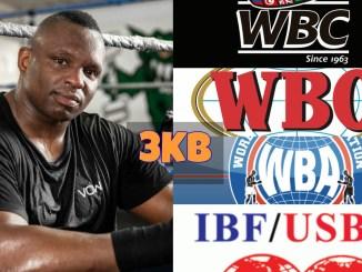 Dillian Whyte, WBC, WBO, WBA and IBF